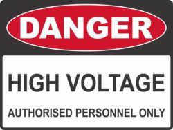 High Voltage- Authorised Only
